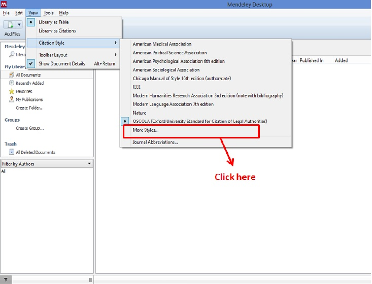 Install New Referencing Styles In Mendeley Knowledge Tank