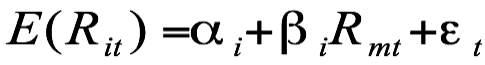Expected return with regression equation