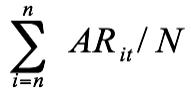 Average abnormal return (AAR)