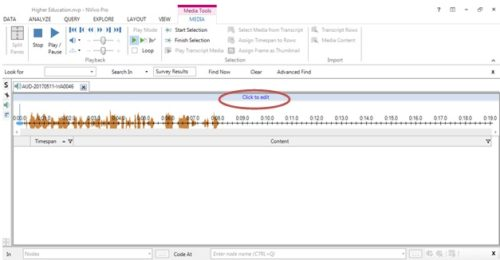 additional tools for audio files in Nvivo