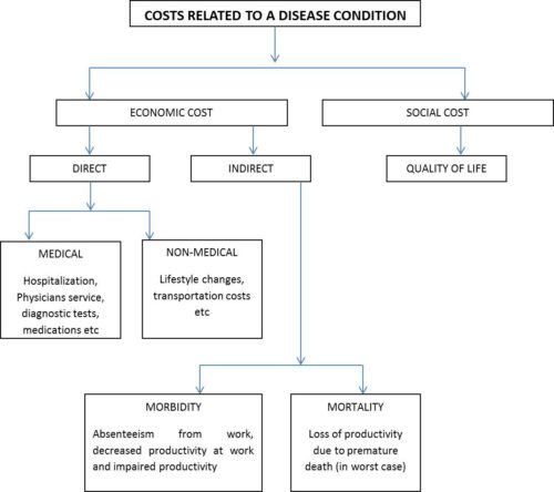 figure explaining the economic and social cost of allergy diseases