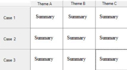 Layout of framework matrices