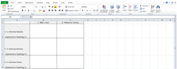 Figure 13: Framework Matrices Exported in MS Excel format