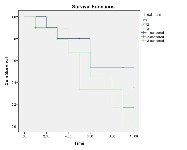 Figure 2: Survival Analysis Curve in SPSS