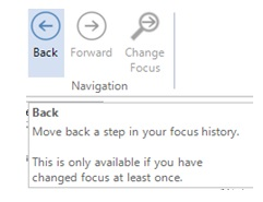 Figure 5: Navigation key for changing focus