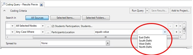Figure 10: Select 'Location' value in last drop down icon