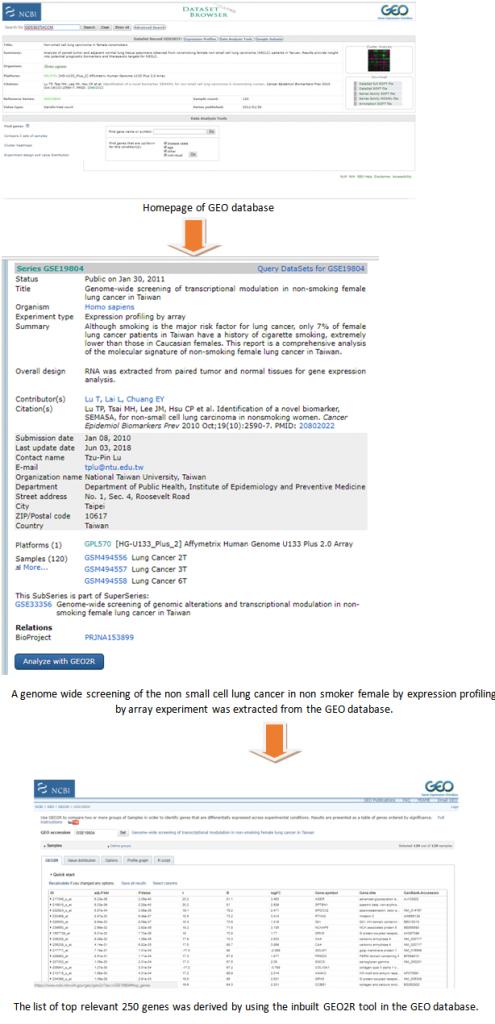 Deriving GEO database from NCBI
