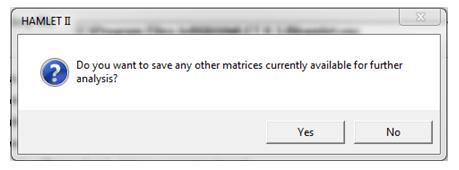 Save button for matrix file