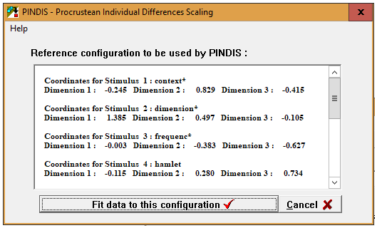 Figure 4: Step 8 for running PINDIS using Hamlet II