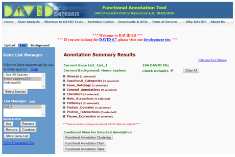 Annotation summary results